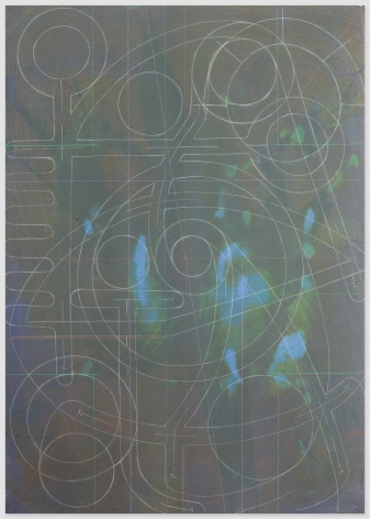 ANDREW LYGHT White Line Drawing KL-7, 2020