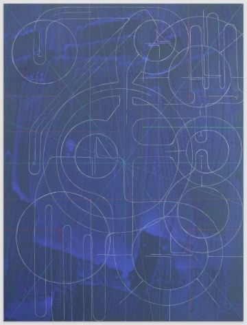 ANDREW LYGHT White Line Drawing A-2, 2020