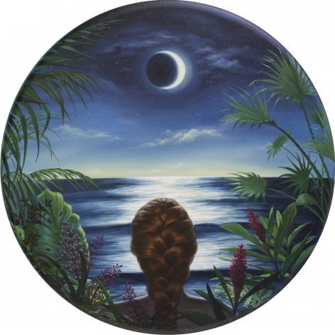 ALONSA GUEVARA Self Portrait Facing the Moon, 2020 Anna Zorina Gallery
