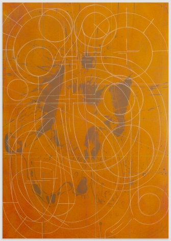 ANDREW LYGHT White Line Drawing KC-2, 2020