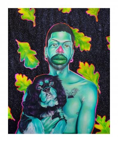 DEVAN SHIMOYAMA Self-Portrait with Bowie, 2020