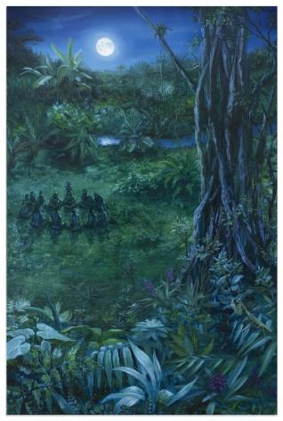 ALONSA GUEVARA Moon Behind The River, 2019 Anna Zorina Gallery