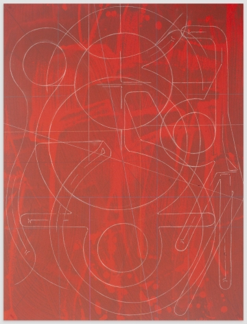 ANDREW LYGHT White Line Drawing A-6, 2020