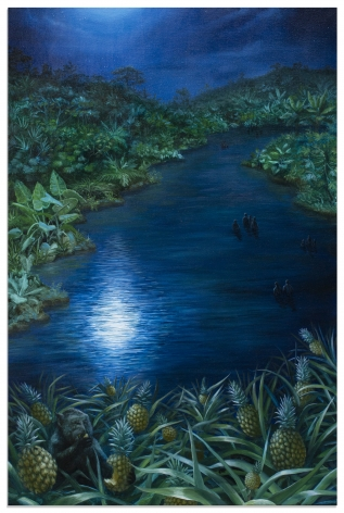 ALONSA GUEVARA Moon on Water, 2019 Anna Zorina Gallery