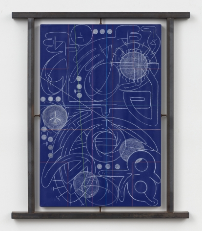 ANDREW LYGHT Industrial Painting/ Sheathing 0143 Blue, 2000-2001