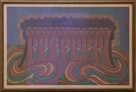 Sadequain Untitled (Fifteen heads)