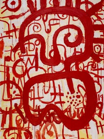 Victor Ekpuk Composition in Red 2