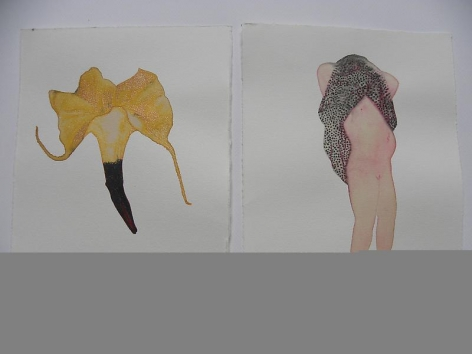 Avishek Sen UNTITLED (SMALL FLOWER AND NUDE)