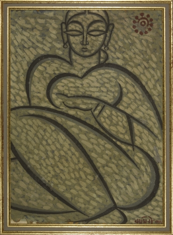 Jamini Roy  Untitled (Woman)