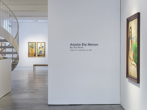 Anjolie Ela Menon   By the River, Installation View 1