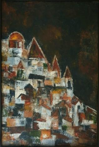 Akbar Padamsee Untitled Cityscape