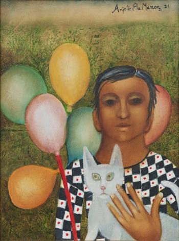 Anjolie Ela Menon, Boy with Balloons