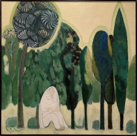 K.S. Kulkarni, Woman Under Tree