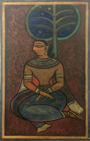 Jamini Roy Untitled (Seated Woman)