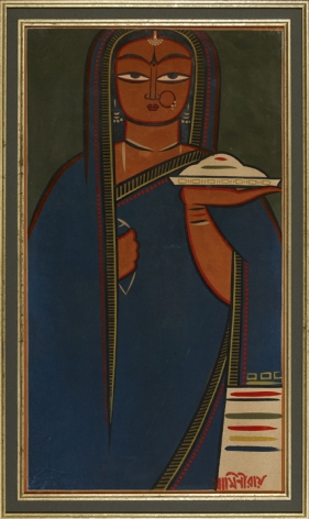 Jamini Roy  Untitled (Pujarin)