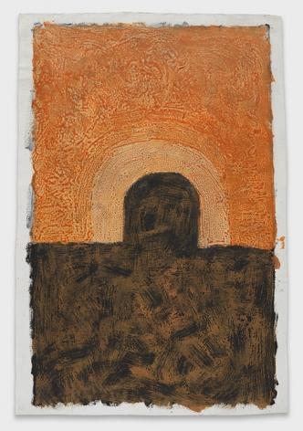 K.S. Kulkarni, Untitled (Brown Orange)