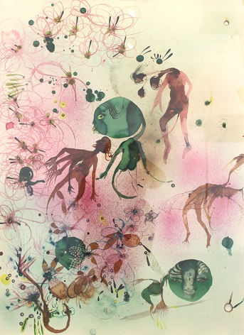 Rina Banerjee Bacteria: In combat 540 wild beast in green fury took refuge in curdled milk, kindled friendship with nomads skimmed butter as treasure absconed with proteins warmed milk until certain odor blew more flora