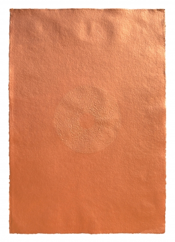 Mohammed Kazem Acrylic on Scratched Paper (Copper)