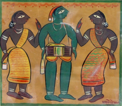 Jamini Roy  Untitled (Drummer with Santhals)