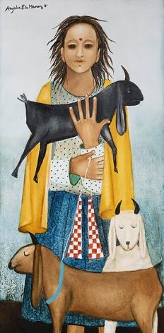 Anjolie Ela Menon, Goatherd II