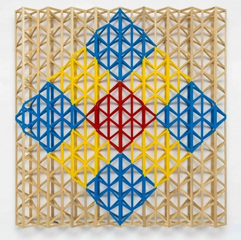 RASHEED ARAEEN Red Square Breaking into Primary Colors, 2015