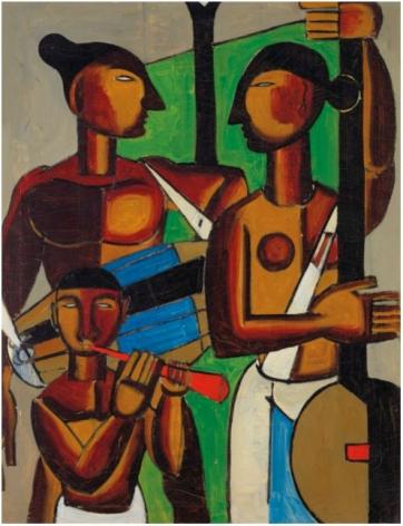 BIREN DE Untitled (Vaishnavites ), 1955
