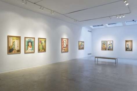 Anjolie Ela Menon   By the River, Installation View 2