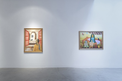 Anjolie Ela Menon   By the River, Installation View 5