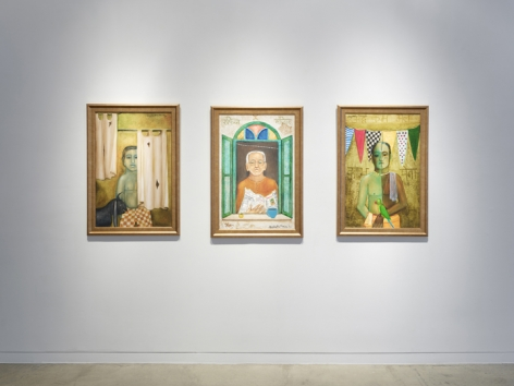Anjolie Ela Menon   By the River, Installation View 3
