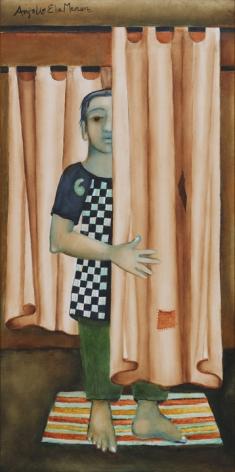 Anjolie Ela Menon, Boy Behind the Curtain