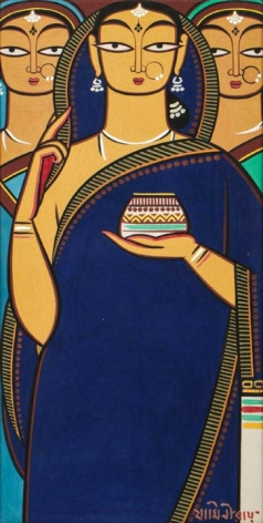 Jamini Roy Untitled (Three Women)