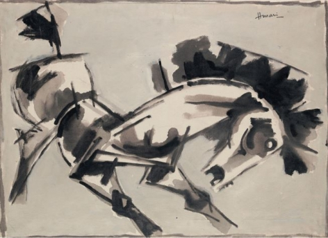 M.F. Husain Untitled (Horse)