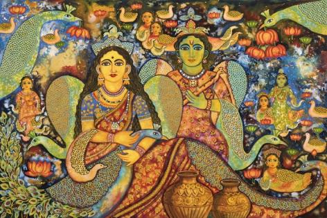 Jayasri Burman Radha and Krishna