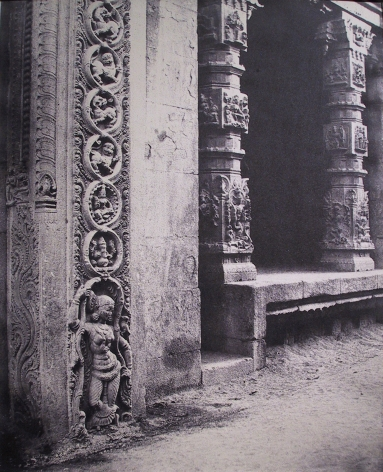 Basement of a monolith in the Raya Gopuram, Madura, India