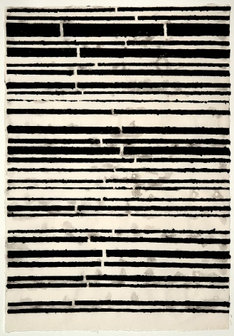 Black Stripes handmade linen and abaca paper