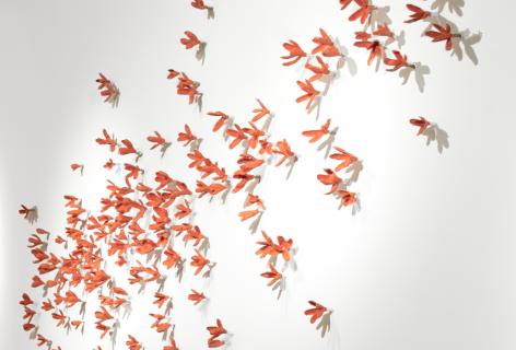 BradleySabin Coral Floral Wall, 2020