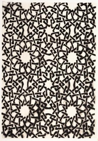 Black Webbing handmade linen and abaca paper