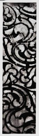 Serpentine Vines intaglio printed collagraph
