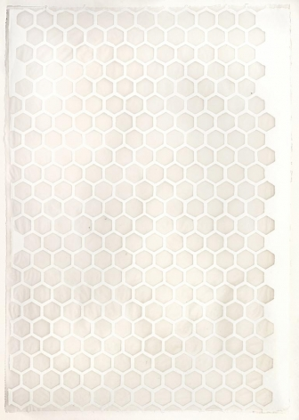 White Hexagons handmade cotton and abaca paper