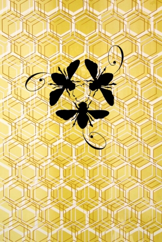 Bee Dance screen print