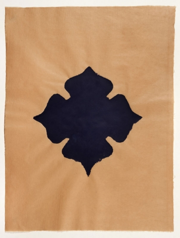 Meditation III handmade paper on Japanese gampip