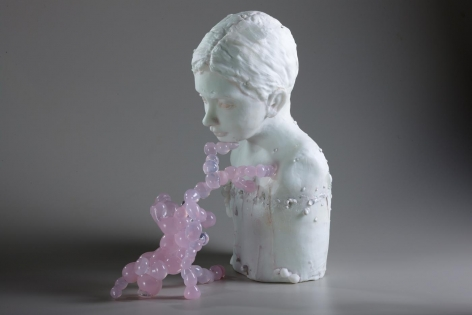 Wunderkind, 2011 Cast And Hot Sculpted Engraved Glass, Pigments