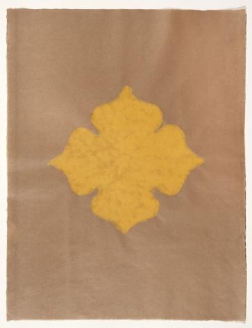 Meditation II handmade paper on Japanese gampip