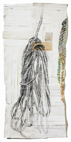 Ropes antique and maps, graphite, watercolor on paper