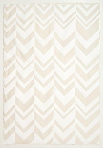 White Chevron handmade cotton and abaca paper