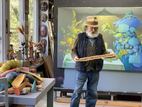 Jose-Maria Cundin in his studio in Folsom, 2020