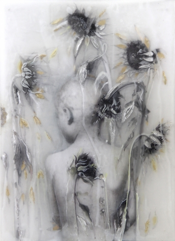 Sibylle Peretti Boy with Sunflowers, 2019