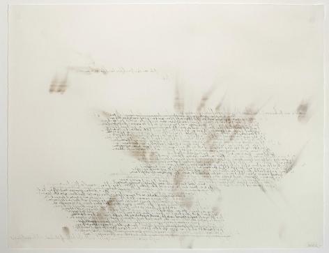 Nina Simone smoke and graphite, backwards script on rag paper
