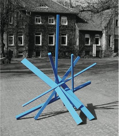 Blue Rhapsody machined aluminum painted blue