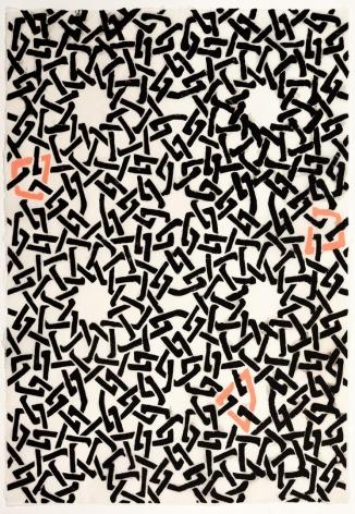 Black and Pink Web Pattern